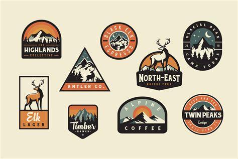 logo badge design adventure badge logos in logo templates on yellow images