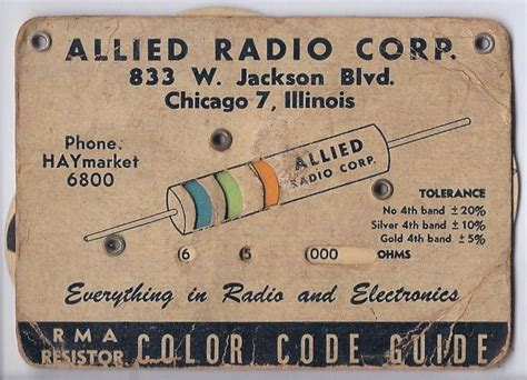 rma resistor color code electronic color code