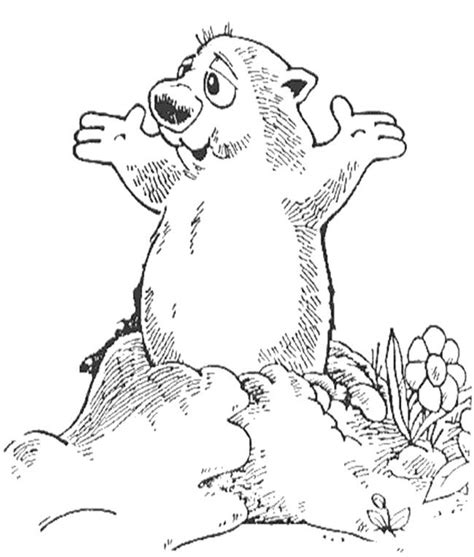 Groundhog Shadow Coloring Page by Happy Groundhog Day Coloring Page Groundhog Day Coloring