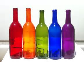 colored glass bottles for sale rainbow pack of 5 bottles for bottle trees