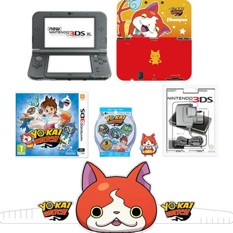 Nintendo Wall Stickers new nintendo 3ds xl metallic black yo kai watch pack