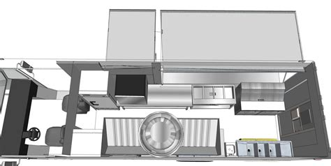 interior design food trucks custom food trucks 3d floor plan step van truck ft idolza