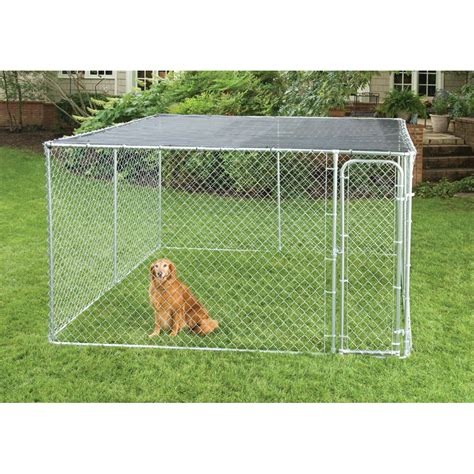 10x10 kennel lowes shop chain link fencing 10 x 10 kennel sunblock cover at lowes