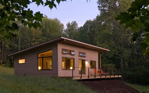 small modern cabin joan heaton architects vermont