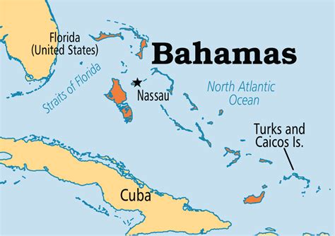 map of usa and bahamas bahamas operation world