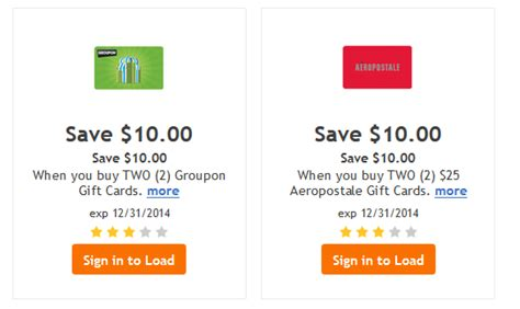 Gift Card Groupon - groupon and aeropostale gift card digital coupons kroger offer of the day