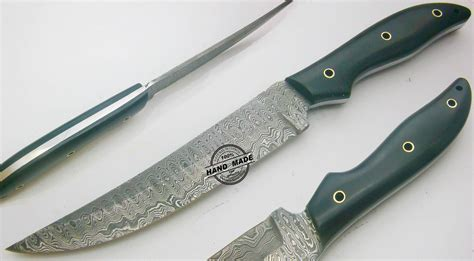 best damascus kitchen knife custom handmade damascus steel