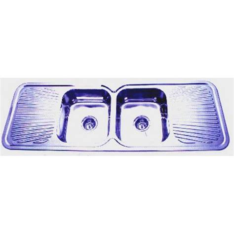 kitchen sink double drainer euro double bowl double drainer kitchen sink 1500x500mm