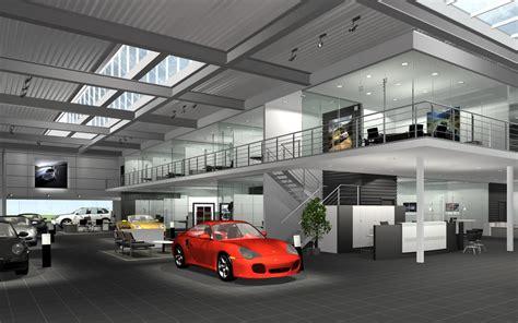 Porsche Autohaus projekte industriebauten porsche ci autohaus archlab