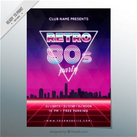 Retro 80 S Card Templates by 80s Vectors Photos And Psd Files Free