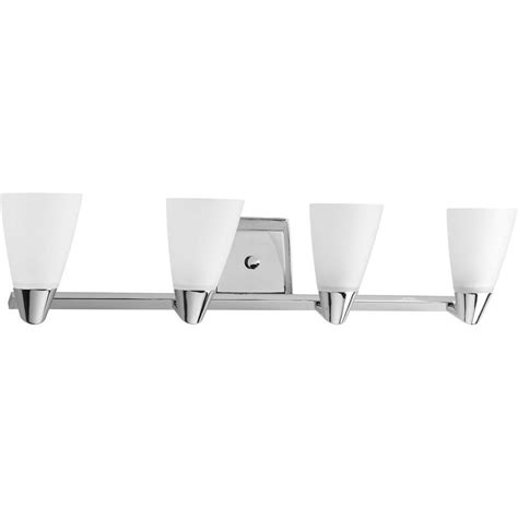 Chrome Vanity Light Fixtures Progress Lighting Rizu Collection 4 Light Polished Chrome