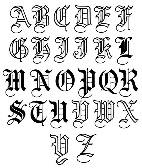 tattoo maker old english font letters for tattoos template resume builder