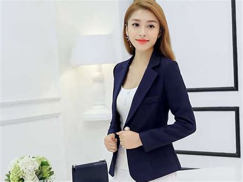Dress Kerja Import High Quality blazer kerja korea wanita bahan polyester high quality 34m50
