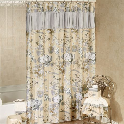 flowered shower curtains ashley floral shower curtain