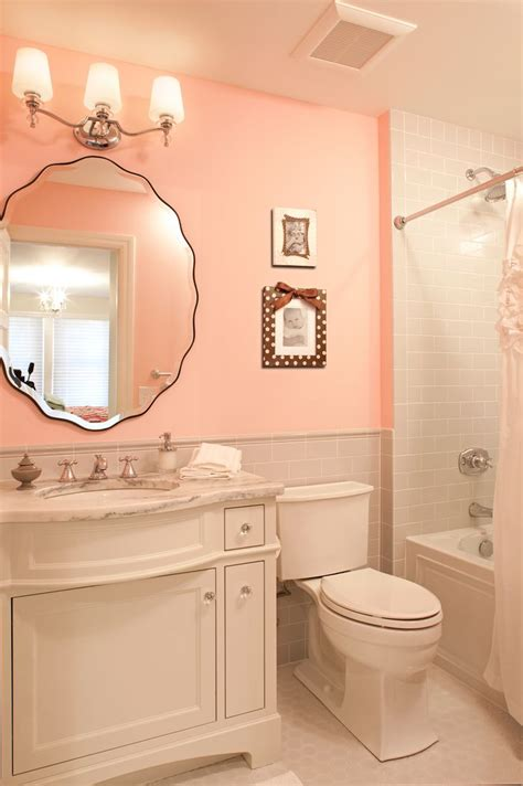 peach bathroom ideas beveled edge mirrorsbetterdecoratingbible