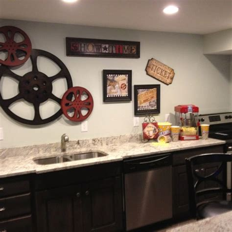movie decorations for home theater room snack bar home ideas theater room pinterest