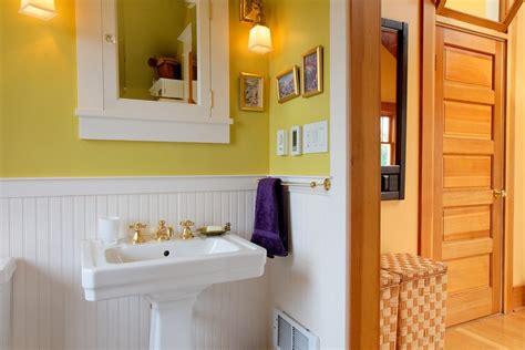 Period Bathroom Fixtures Installing Beadboard Wainscoting Bathroom Craftsman With Period Medicine Cabinet Brass Sink Faucets