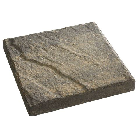 Decorative Stepping Stones Home Depot by Anchor 12 In X 12 In Charcoal Tan Slate Top Concrete