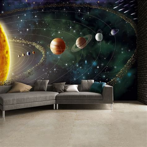 solar system wall mural wallpaper photowall home outerspace planets and stars wall mural 315cm x 232cm