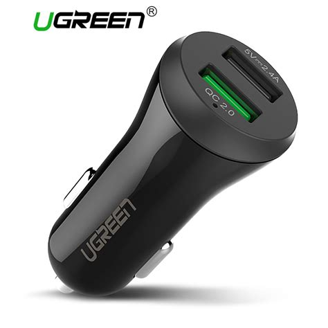 Terlaris Car Charger Charger Mobil Samsung Fast Charging Original Ugreen Dual Usb Car Charger Charge 2 0 3 0 Mobile