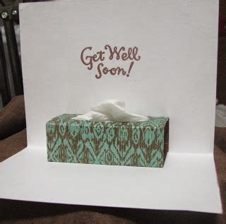 how to make a get well soon pop up card doing it with ink