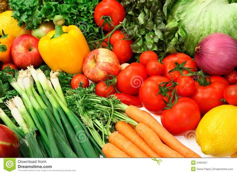 colorful vegetables and fruits stock image image 2494421