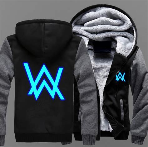 Hoodie Alan Walker Heartmerch23 new winter jacket dj alan walker costume hoodie anime hooded thick zipper