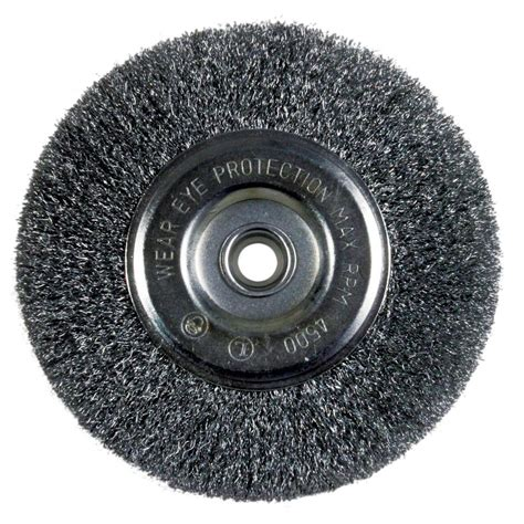 bench wire wheel forney 3 in x 1 4 in shank coarse crimped wire wheel