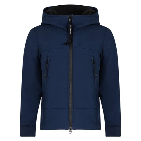 Cp Jaket cp company boys blue zip up hooded jacket with goggles cp company from chocolate clothing uk