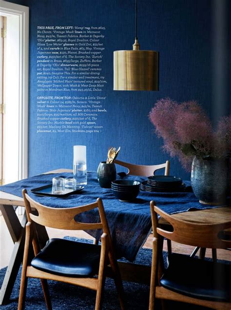 dark blue dining room midnight express colour your home in indigo interiors