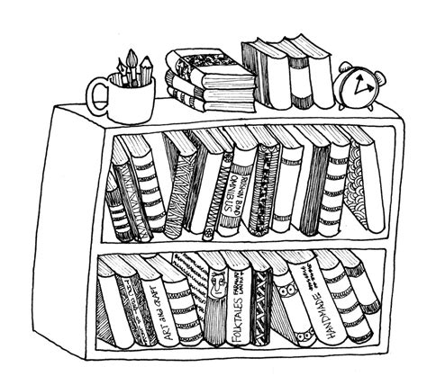 bookshelf sketch bookcase pencil and in color bookcase