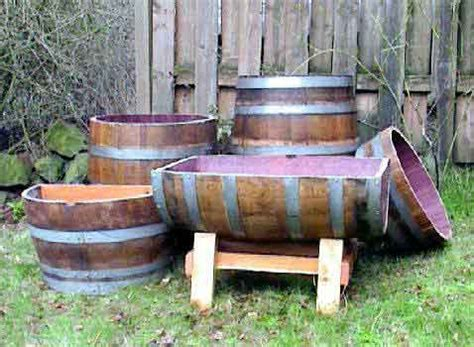 Half Wine Barrel Planters For Sale by Pot Planter Container
