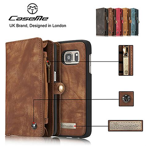 genuine leather detachable magnetic zipper wallet cover for iphone 7 7 plus ebay