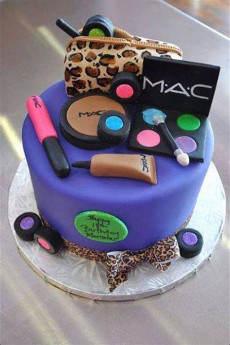 makeup themed birthday cake makeup cake ideas for cakes and cupcakes pinterest
