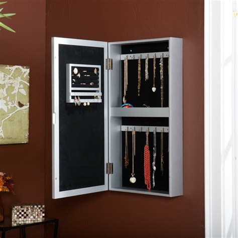 Hanging Jewelry Armoire Roselawnlutheran Jewelry Cabinets Wall Mounted