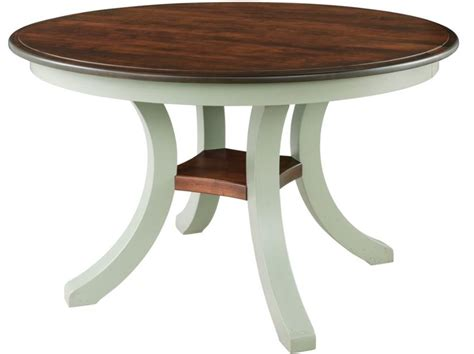 harrison solid top pedestal dining table by keystone