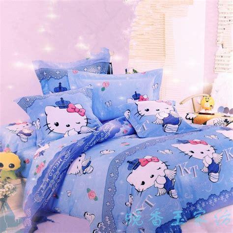 Kt Sky Blue Hello Kitty Bedding Set Hello Kitty Pinterest Hello Bedding Set