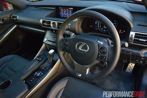lexus steering wheel 2014 lexus is 350 f sport review video performancedrive