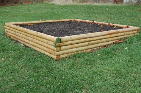 landscape timber raised garden bed at walnut grove