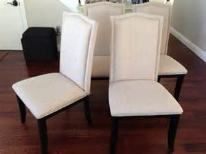 Dhi Nail Upholstered Dining Chair Set Of 2 Colors Wheat by Furniture Dhi Nail Upholstered Dining Chair Set