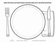 Worksheets Dinner Plate Coloring Page More sketch template