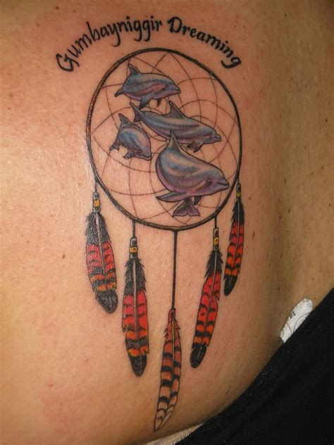 dreamcatcher tattoos on back catcher tattoos bracelet tattoos so 187 dolphins and