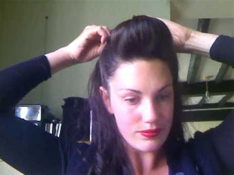 quick and easy retro hairstyles easy quick pin up pomp vintage retro look no