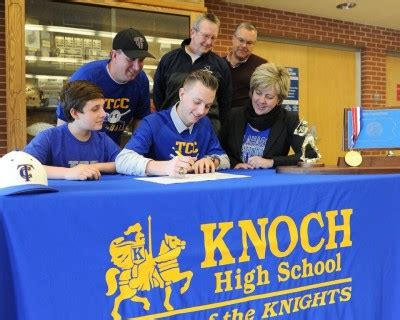 Junior College Letter Of Intent Baseball knoch s stobert signs letter of intent to play college