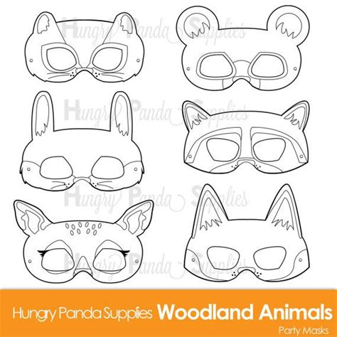 woodland animal mask templates woodland forest animals coloring masks woodland animal