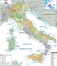 Detailed Map Of Italy by Large Detailed Political And Administrative Map Of Italy