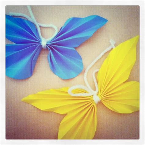 paper butterflies on