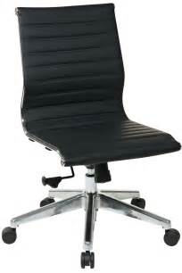 Armchair With No Arms 73631 Office Modern Mid Back Black Eco Leather