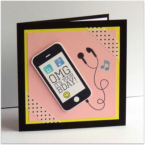Handmade Mobile Phone - omg its your bday pink version handmade by