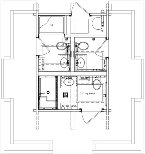 ada bathroom floor plans prairie kraft specialties log cabin manucturing bathrooms